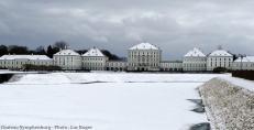 Chateau Nymphenburg en hiver sous la neige