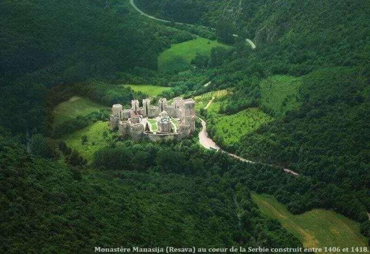 Monastère Manasija Resava en Serbie