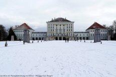 Munich Parc du chateau Nymphemburg sous la neige