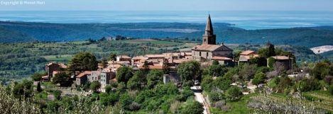 Groznjan village en Istrie