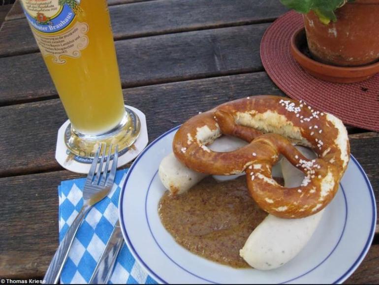 weisswurst biere blanche à Munich