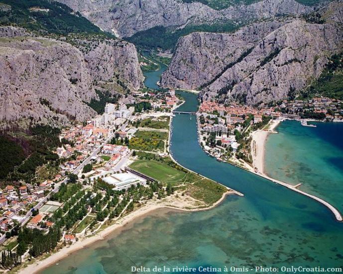 Delta de la rivière Cetina à Omis