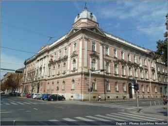 Zagreb batiments de style autrichien