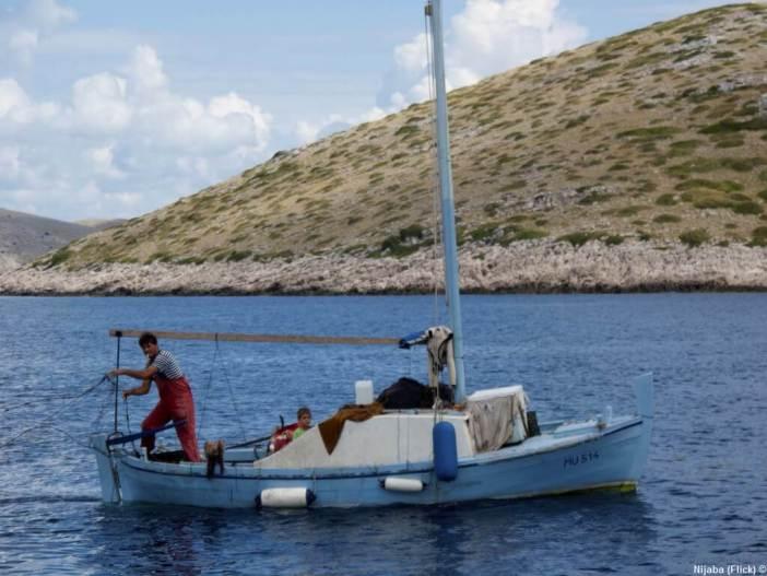 Pêcheur dans les Iles Kornati
