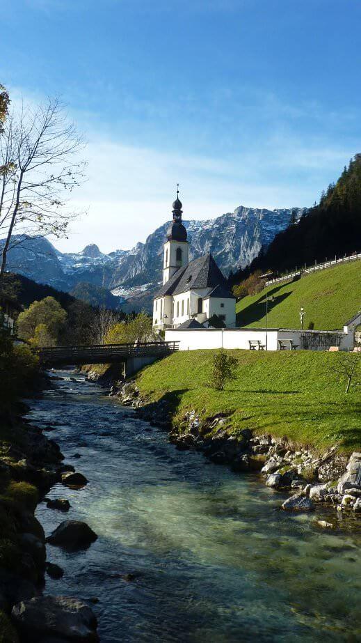 Eglise de Ramsau en Haute Bavière
