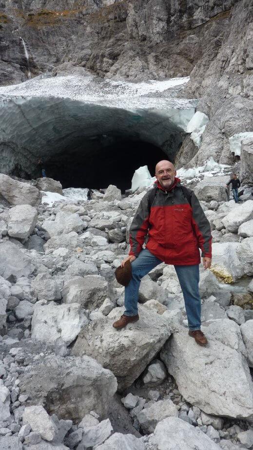 Eiskapelle Luc Roger en randonneur dans les Alpes bavaroises