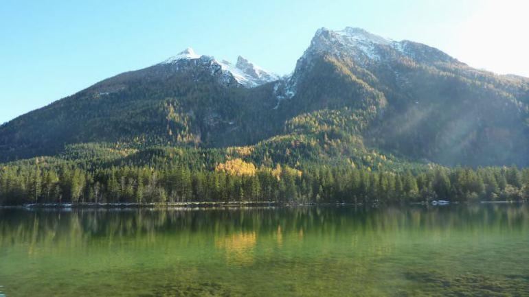 Montagne et lac Hintersee