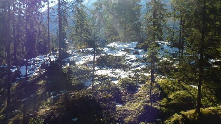 Premières neiges d'automne près de Berchtesgaden