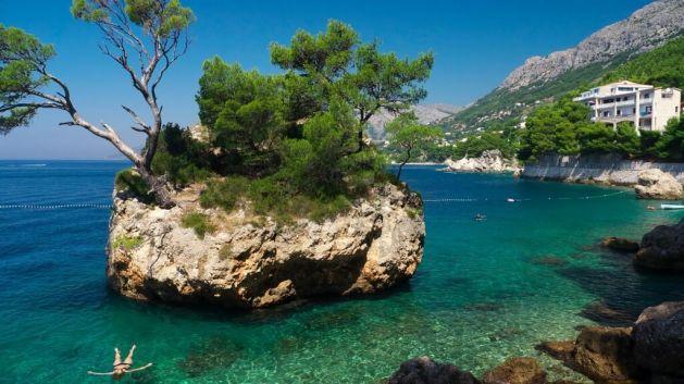 Rocher de Brela en Dalmatie