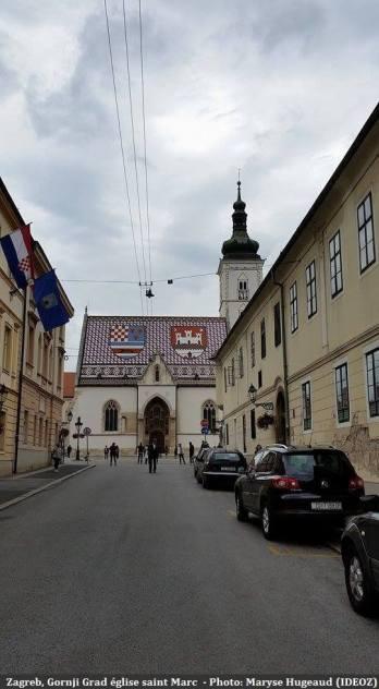 Zagreb Gornji Grad vers l'église saint Marc