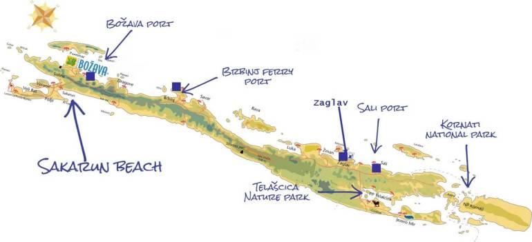 Carte ports de dugi otok