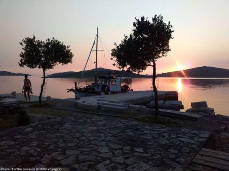 Coucher de soleil sur les îles Kornati avec Tvrtko