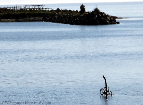 Lofoten moskenes vélo sur l'eau