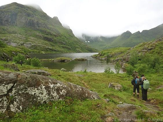 paysage verdoyant des iles Lofoten