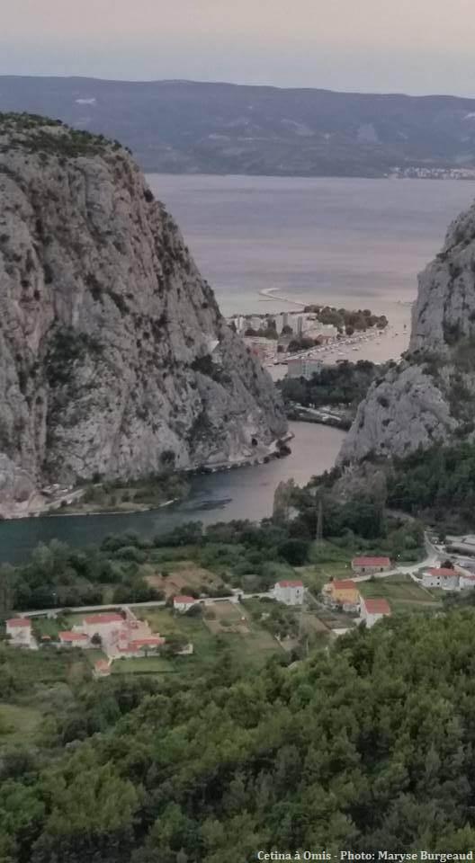 canyon de la Rivière Cetina à Omis