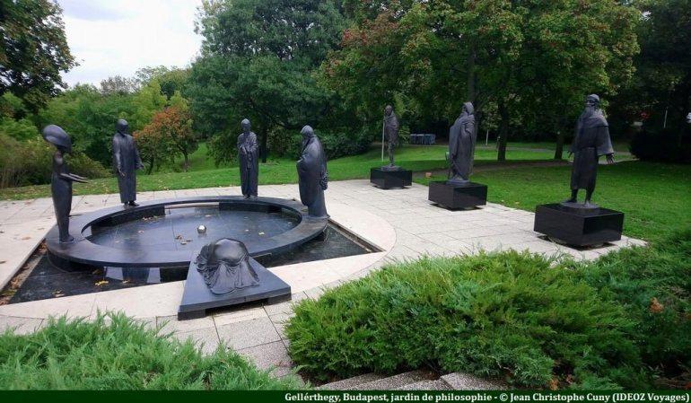 Budapest Gellérthegy jardin de philosophie