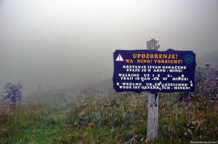 Danger mines sur les sentiers du parc Palkenica en Croatie