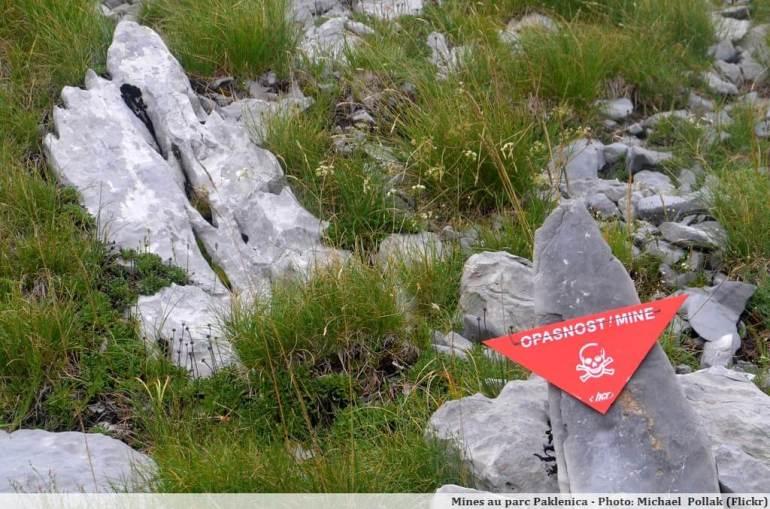 Mines antipersonnel au parc Paklenica en Croatie