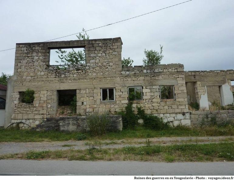 Ruines de la guerre d'indépendance de Croatie