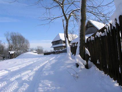 Agrotourisme Stara Lonja en hiver dans le parc Lonjsko Polje