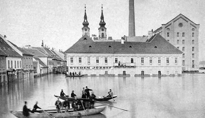 Inondation du Danube à Budapest en 1876
