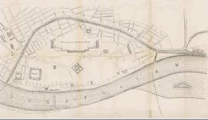 Pest plan du canal 1865