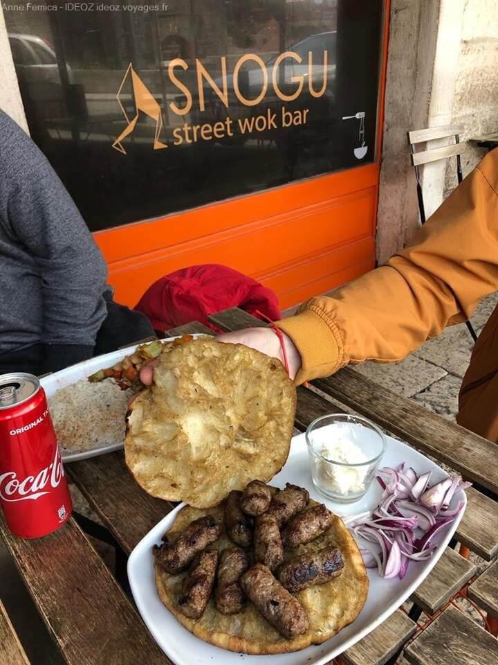 cevapcici bosniaques au snogu dubrovnik street bar