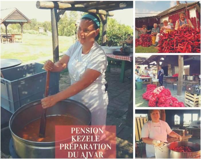 ajvar préparé à la pension Kezele en Croatie centrale