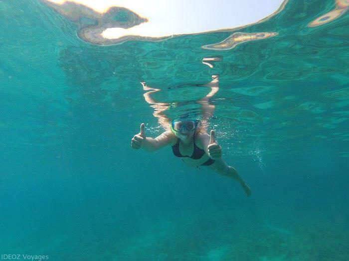 Snorkeling dans les Kornati près de l'île de Zut