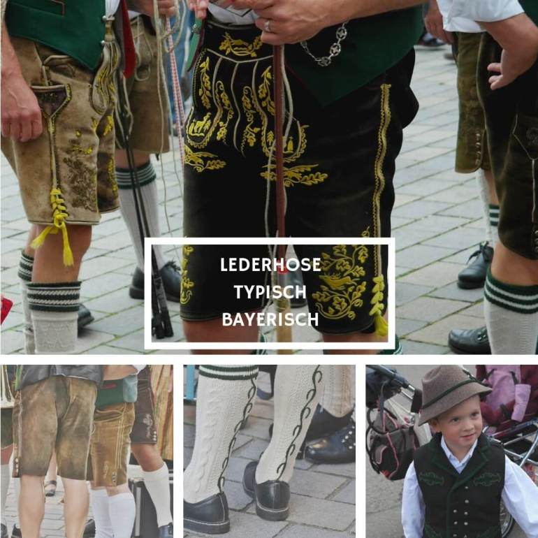 Lederhosen pantalon traditionnel des Alpes bavaroises
