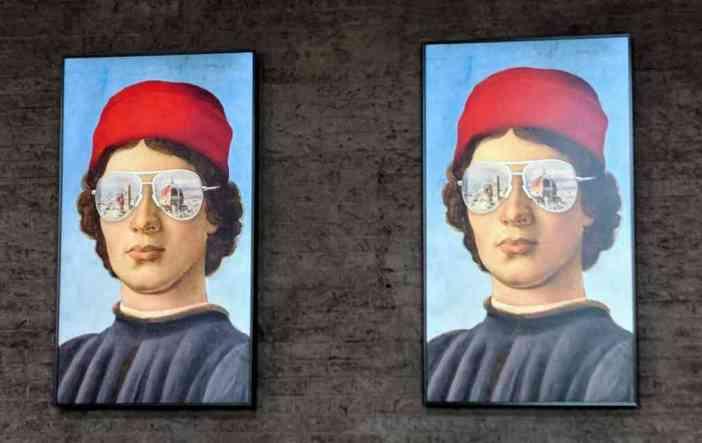 Filippino Lippi - Portrait d'un jeune homme modernisation de l'oeuvre