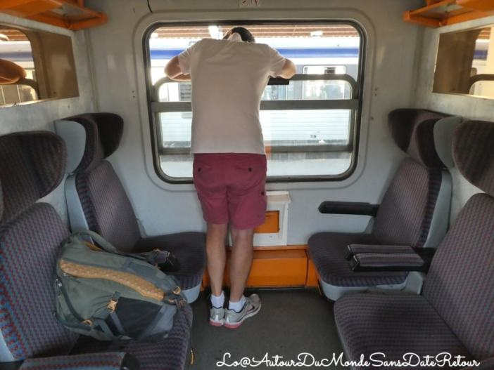 Intérieur d'un train moderne roumain