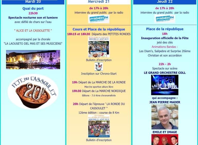 Fête du cassoulet de Castelnaudary ; 4 jours de folie du 22 au 25 Août 2019 31