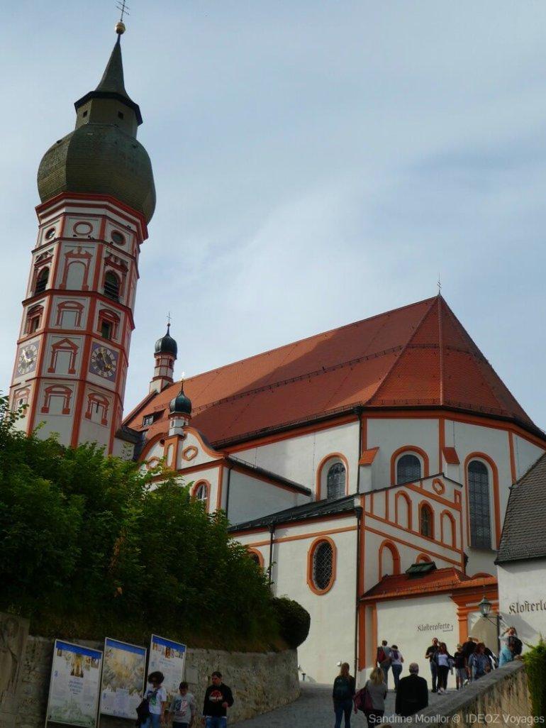 église de l'abbaye d'andechs en baivère près d'ammersee