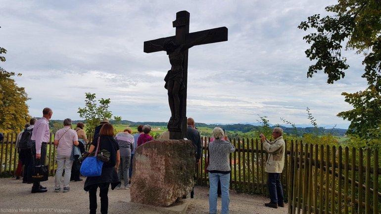 christ à l'abbaye andechs en oberbayer dans le ammerseeland