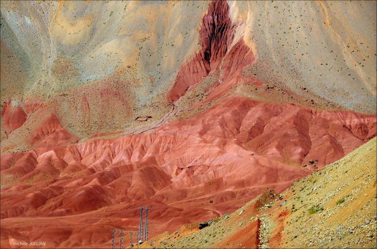montagnes rouges de l'atlas marocain