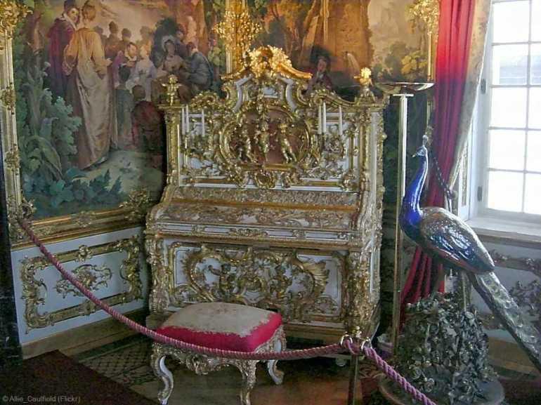 intérieur de la résidence royale de Louis II Linderhof