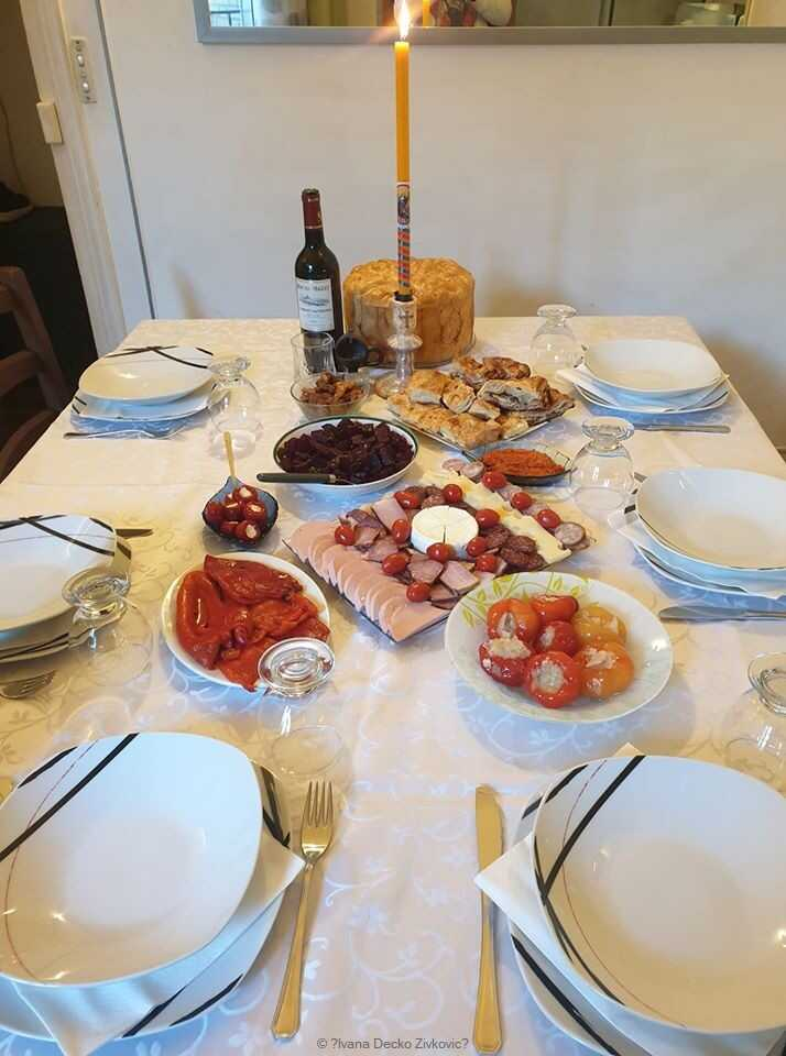 repas de la slava en serbie