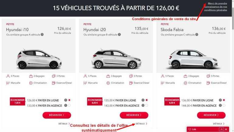 résultats d'une recherche sur le moteur d'avis location de voiture en croatie