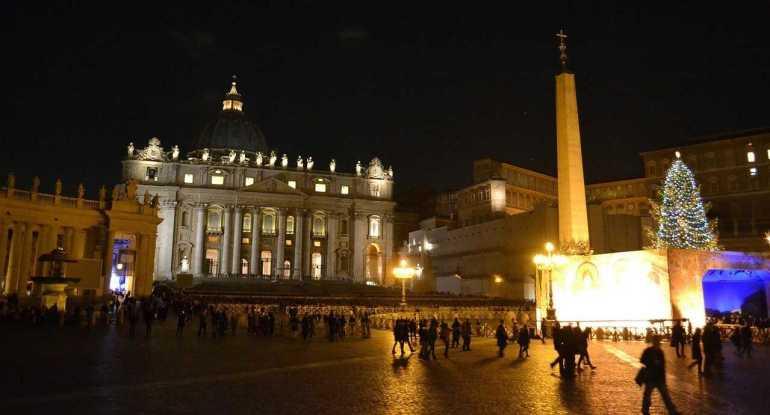 rome à noel de nuit