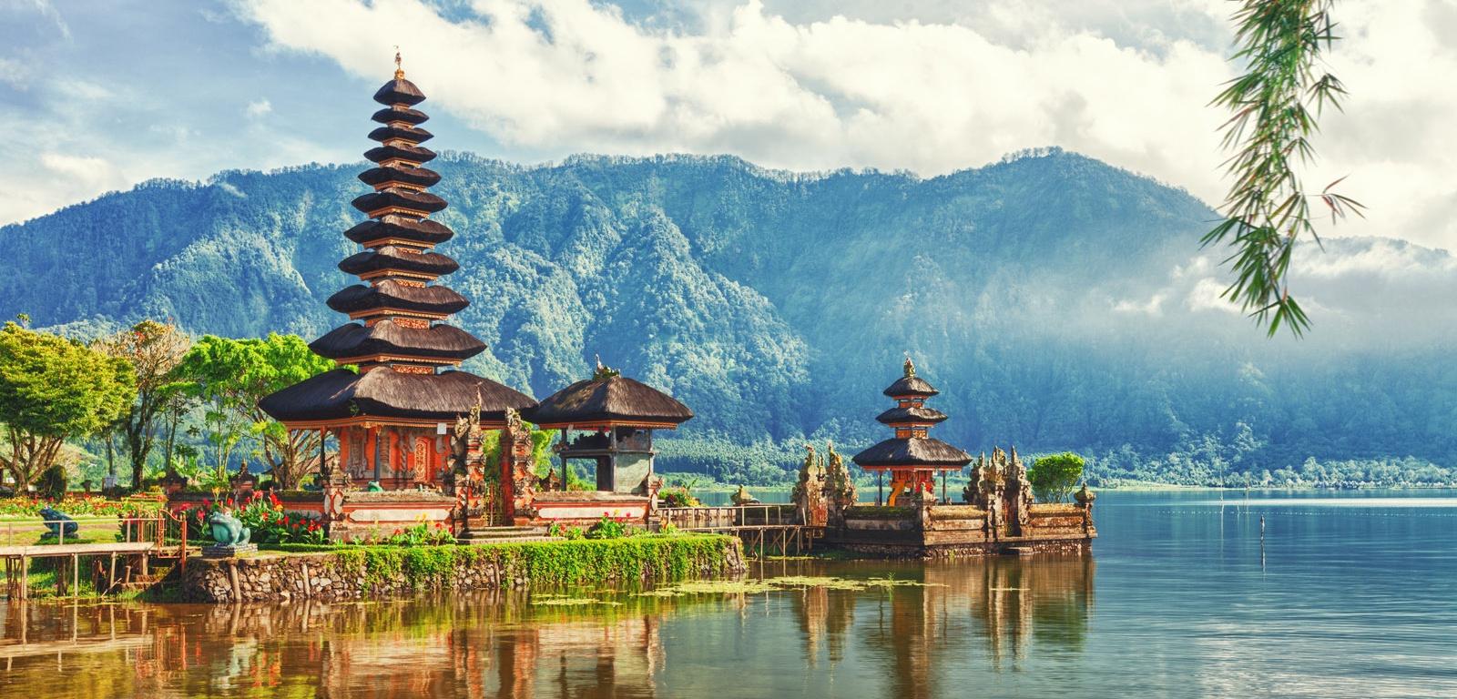 Bali Temple & Montagne