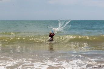 Plage de Jimbaran - Pêche au filet