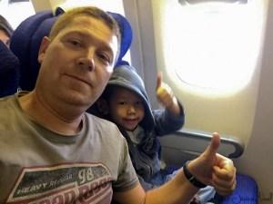 Thomas et papa dans le Londres - Bangkok