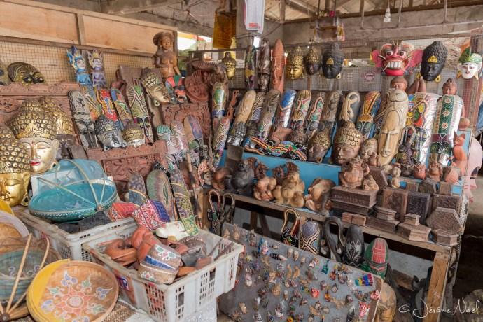 Bedugul - sculptures en bois