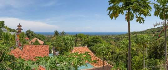 Brahma Arama Vihara - panorama sur la baie de Lovina