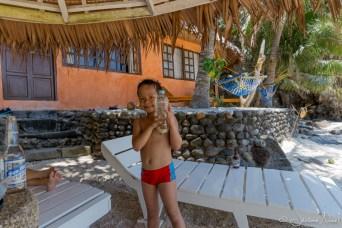 Apo Island - Thomas et les méduses
