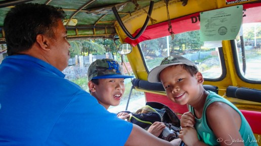 Dumaguete - dans le tricycle