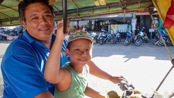Dumaguete - Thomas chauffeur de tricycle