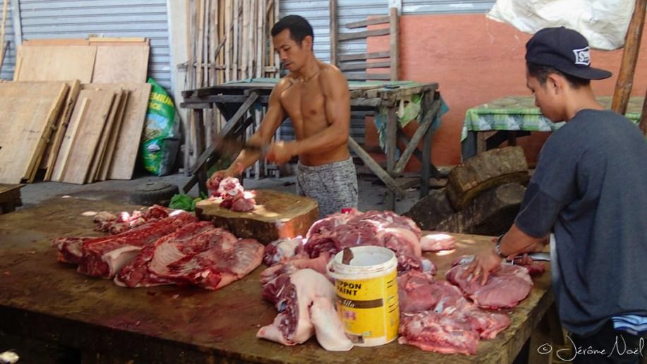 Oslob Market - boucher