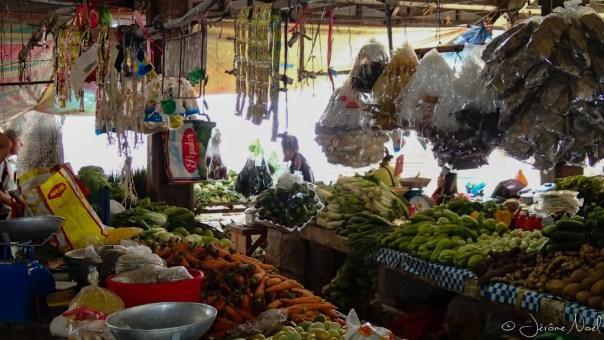 Oslob Market - fruits et légumes